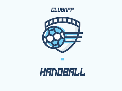 Clubapp - Handball Icon branding logo ball handball shield app club illustration