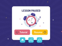 Lesson Paused - Modal