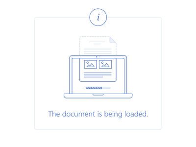Illustration - document loading
