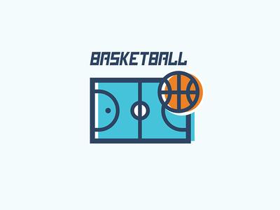 Clubapp Basketball linear line outline icon nba pitch court ball basketball clubapp