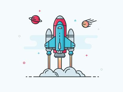 Illustration - Rocket