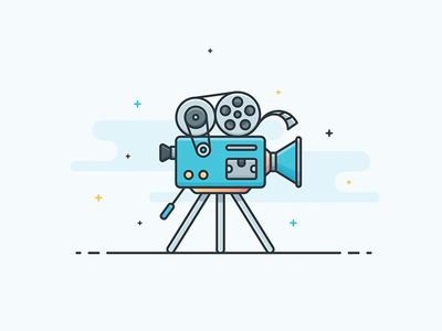 Illustration - Movie Camera