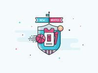 Illustration - Dribbble Invites