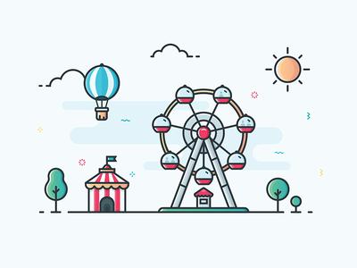 Illustration - Ferris Wheel
