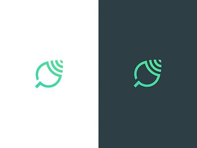 Leaf logo for innovative ecology company simple clean shape modern eco leaf solar internet wlan wifi ecology