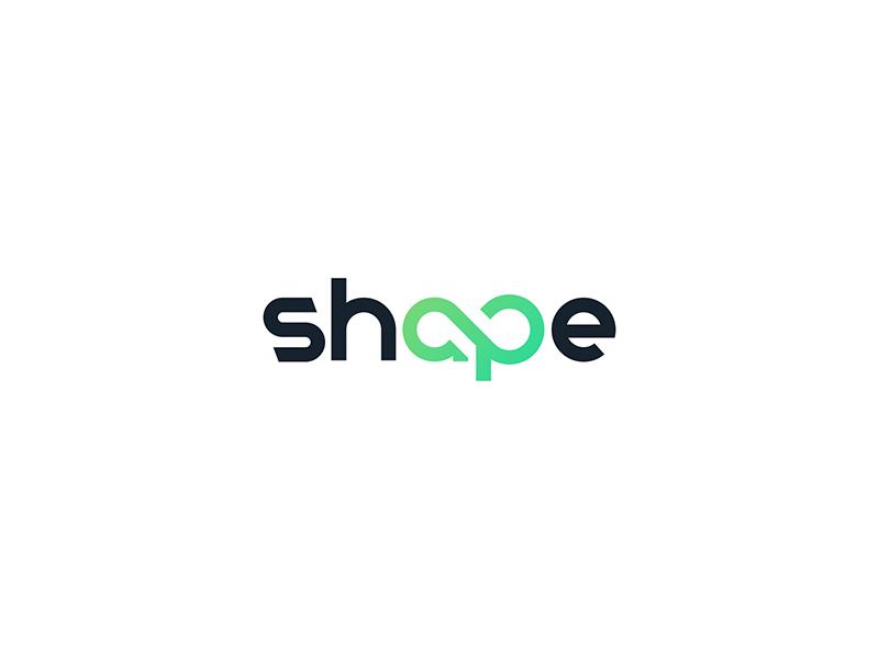 Shape Logo design loop infinity symbol health life gym fitness care shape