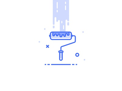Paint Icon icon inspace blue colors paint wall