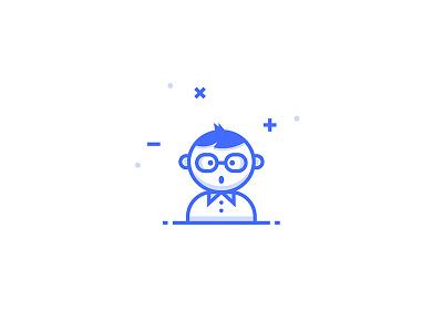Nerd Icon inspace gamer person team dev nerd