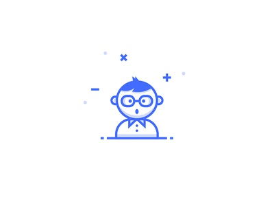 Nerd Icon inspace gamer person team dev nerd