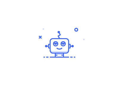 Droid Icon inspace illustration set icon eyes robot droid