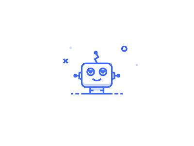 Droid Icon inspace illustration set icon eyes robot droid