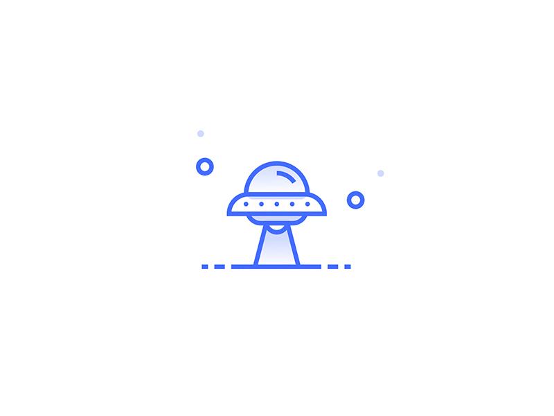 Ufo Icon shapes illustration cosmos space ufa icon
