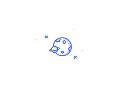Planets Icon illustration set icon stars world saturn cosmos planet space