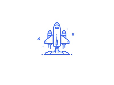 Spaceship Icon flat illustration icon discover travel cosmos space prom spaceship