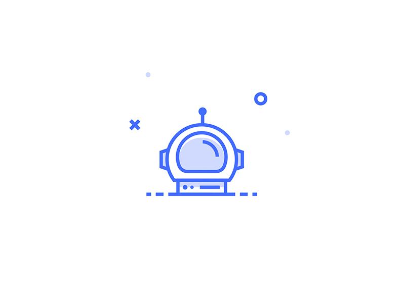 Astronaut Helmet Icon illustration icon astronaut person team helmet inspace