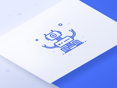 Exploration Rover - Robot Icon isometric mockup illustration robot universe walker droid