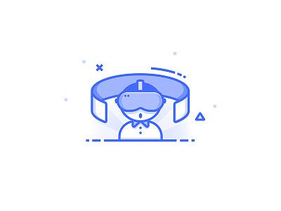 Virtual Reality Icon set icon nerd ar reality virtual glasses vr