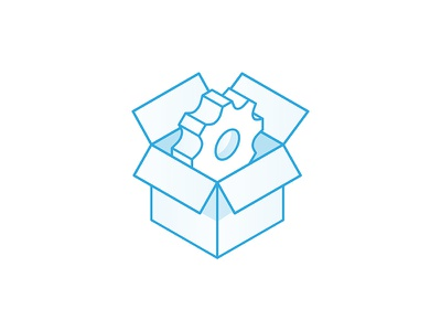 Service Icon clean linear lineart open box track service