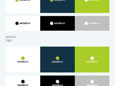 Social Kiwi Logo marketing digital social fruit fresh logo kiwi