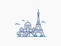 Paris City Illustration