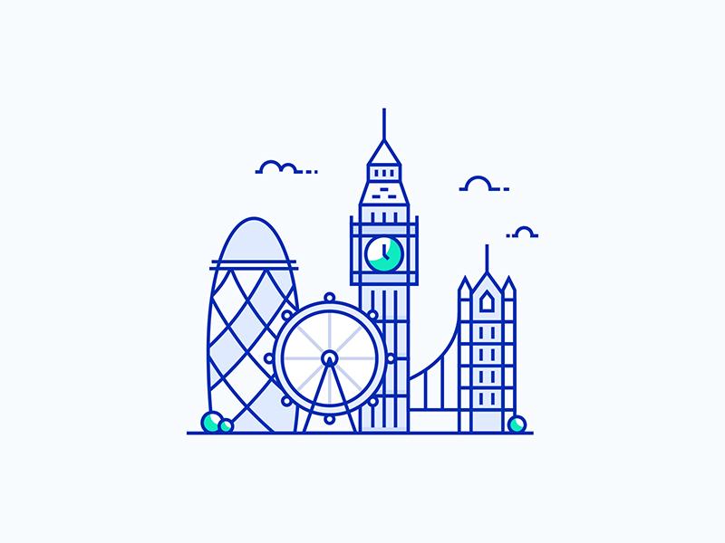 London City Illustration big ben united kingdom vector illustration city london