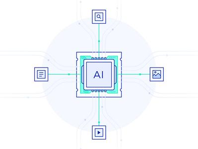 Processor Illustration lineart vector files multimedia icon illustration artificial intelligence processor ai