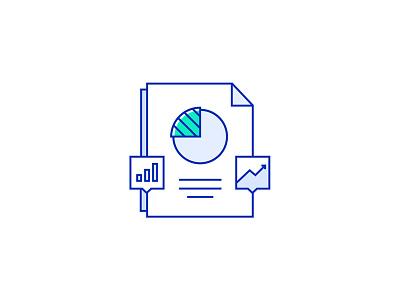 Stats Illustration vector illustration icon document diagram chart stats