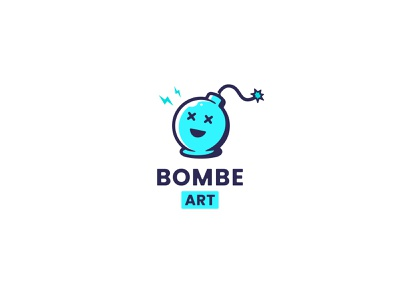 Bombe Art Logo fun branding icon illustration art bomb logotype logo