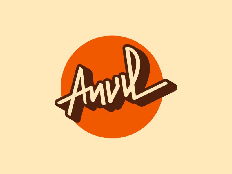 Anvil Logo anvil island summer camp anvil brochure design brochure identity logo design logo branding