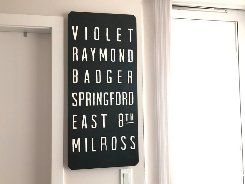 Family Streets Sign craft hand lettering lettering design gift hand lettered hand painted home decor sign painting painting