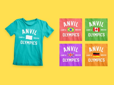 Anvil Olympics Shirt craft customizable kids clothing olympics shirt design kids camp camp summer camp t-shirt design t-shirt design