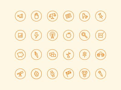 Chimp Marketing Icons ui design ui product illustration interface design interface icons icon set icons icon design charity