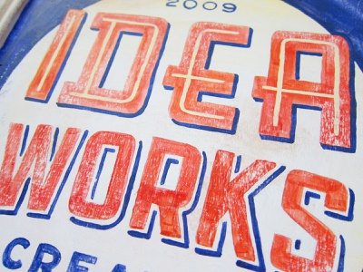 Idea Works Sign signage sign painting painting vintage design lettering home decor hand painted hand lettering hand lettered gift design craft