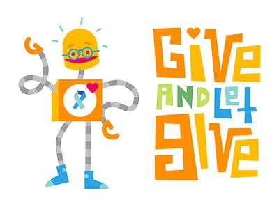 Ben-E the Benevolent Robot charitable impact character illustration design character design product illustration charity illustration