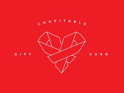 Charitable Gift Card charity logo heart logo gift certificate gift cards charity illustration design