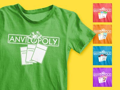 Anvilopoly Shirt design t-shirt t-shirt design summer camp camp kids camp shirt design monopoly kids clothing customizable craft