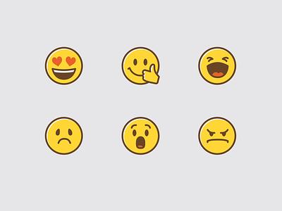 Bananatag Reaction Emoji product illustration illustration survey rating product icons product design icons emoji set emoji reactions