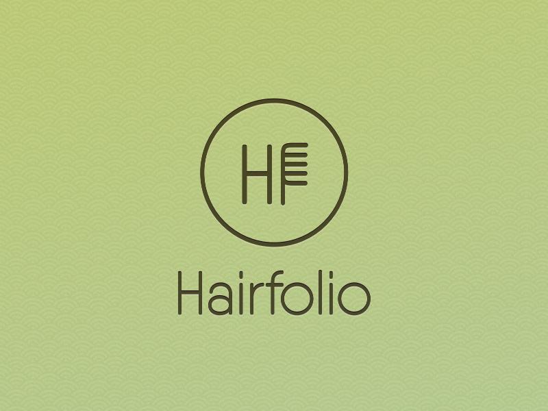 Hair Salon Logotype green logo auckland salon hair