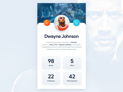 Rock-Solid Profile Interface maculine manly ux ui download free mobile profile johnson dwayne therock rock