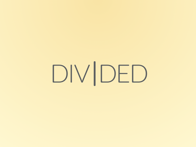 Divided typography wordplay divided pale thin