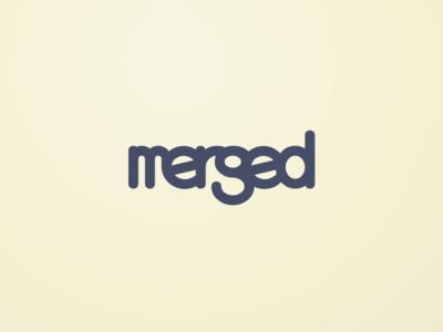 Merged Logo git solarize solarise coding mono space mono typography logo