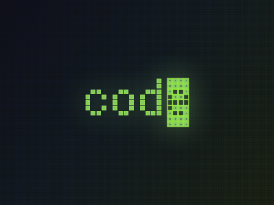 Code Logo terminal git solarize solarise coding mono space mono typography logo