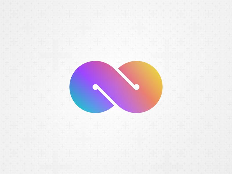 Infinity Logo (free source) fractal gradient cycle round build logotype logo infinity loop