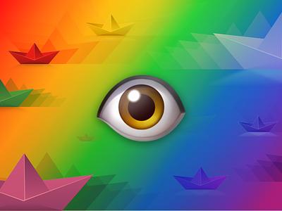 Retina Chrome Extension illustration site extension chrome emoji eye pixel density retina