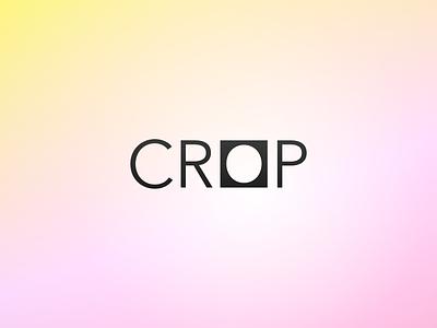 Crop Logo experiments typography simple square logo avenir crop