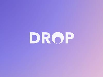Drop Logo experiment simple 4 letters typography fonts geometric avenir next avenir bold