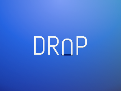 Drop Rebound font din letters gradients blue typography hole fall drop