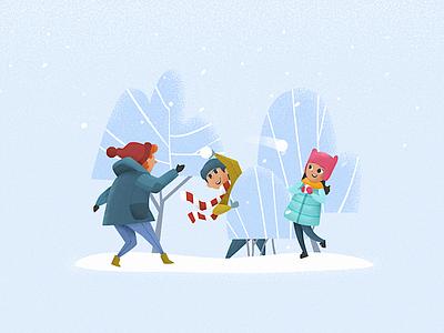 Snowball Battle blue freezing battle fight snowball cold winter textures