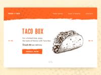 Taco Box delivery food salad mexico box taco