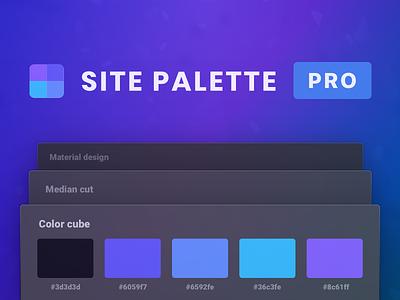 Site Palette PRO dark api tool colour mix swatch color colour palette site